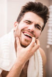 Dor de dente foto de stock