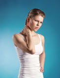 Dor de pescoço Imagem de Stock Royalty Free