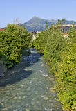Dor de Reither da angra na vila de Kirchberg Imagem de Stock