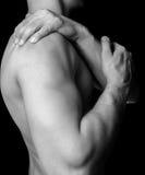 Dor do ombro imagens de stock