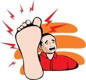 Dor do pé Imagem de Stock