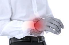 Dor do pulso imagem de stock