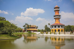 Dor Royal Palace - Ayutthaya Tailândia do golpe do palácio de verão Imagens de Stock Royalty Free