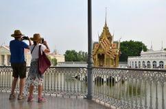 Dor Royal Palace do golpe, Ayutthaya Foto de Stock Royalty Free
