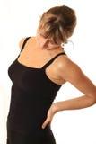 Dor traseira, dor lombar Imagem de Stock