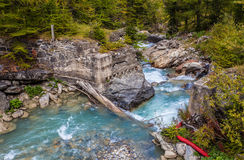 Dora Di Ferret River, Val Veny, Italy Stock Photo