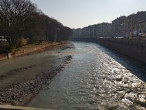 Dora river in Turin royalty free stock photos