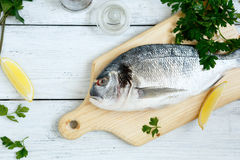 Dorade with parsley and lemon pepper Stock Image