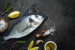 Free Dorado And Ingredients For Cooking Stock Photo - 111104410