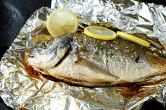 Dorado baked in foil Royalty Free Stock Photography