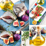 Dorado fish with lemon and figs Royalty Free Stock Image
