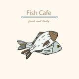 Dorado vector illustrations. Seafood Logo. Royalty Free Stock Photo