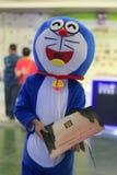 Doraemon送广告 库存图片