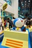 Doraemon陈列在香港 免版税库存图片
