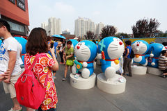 Doraemon陈列 库存图片