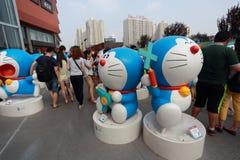Doraemon-Ausstellung Stockbild