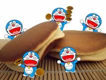 Doraemon and dorayaki cake Royalty Free Stock Images