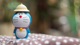 Doraemon mit Bokeh-Hintergrund Lizenzfreies Stockbild