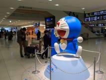 Doraemon model przy Nowym Chitose lotniskiem Fotografia Royalty Free