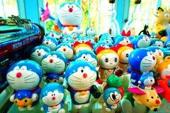 Doraemon tecknad filmsamling på det miljon leksakmuseet Arkivbilder