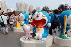 Doraemon utställning Arkivfoto