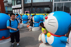 Doraemon wystawa Obrazy Stock