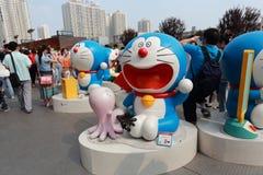 Doraemon wystawa obraz royalty free