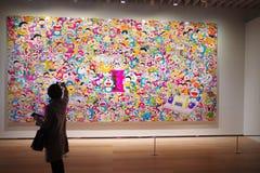 Doraemon wystawa w Mori sztuk Centrum galerii Zdjęcie Royalty Free