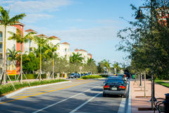 Doral Townhomes. New Townhome and apartment community in Doral, FL with good landscaping Stock Image