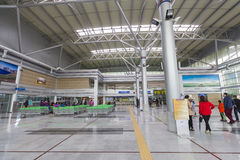 Dorasan Railway Station inside Stock Images
