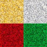 Dorato, d'argento, Ryby e Emerald Shiny Glossy Texture Backgroun Fotografie Stock
