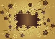 Dorato e cioccolato royalty illustrazione gratis