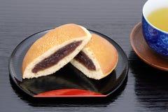 Dorayaki, японская кондитерская стоковые изображения