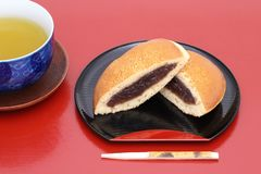 Dorayaki, японская кондитерская стоковые изображения rf
