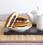 Dorayaki Japanese  Pancake Dessert Stock Image