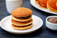 Dorayaki, Japanese Red Bean Pancakes Stock Photo