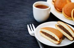 Dorayaki, Japanese Red Bean Pancakes Stock Photos