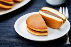 Dorayaki, Japanese red bean pancakes Stock Photography
