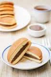 Dorayaki, Japanese red bean pancakes Royalty Free Stock Photography