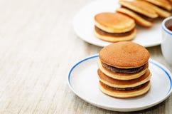 Dorayaki, Japanese red bean pancakes Royalty Free Stock Image