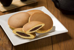 Dorayaki, Japanese Sweet Bean Pancakes Royalty Free Stock Photos