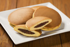 Dorayaki, Japanese Sweet Bean Pancakes Stock Images