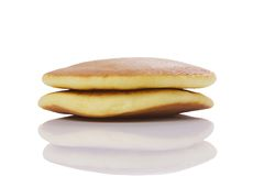 Dorayaki with reflex Royalty Free Stock Image