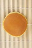 Dorayaki top view. On bamboo mattress Stock Image