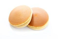 Dorayaki on white background, Japanese red bean pancake Stock Photos