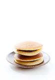 Dorayaki on white background, Japanese red bean pancake Stock Photography