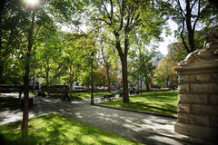 Dorchester Square. Public park in Montreal's downtown core Royalty Free Stock Images