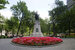 Dorchester Square. View of Dorchester Square in Montreal's downtown core Stock Images