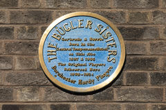 The Bugler Sisters Plaque in Dorchester Stock Photo