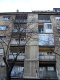 Generic 1. Dorcol, neighbourhood of Belgrade, capitol of Serbia. In the Gundulicev venac street, there is an example of generic architecture, with poor facade stock image